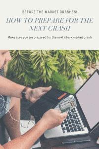 prepare for a market crash