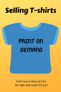 """selling t-shirts with print on demand"""