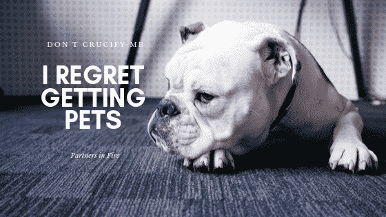 """Regret getting pets"""