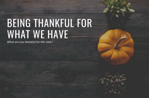 """Being thankful"""