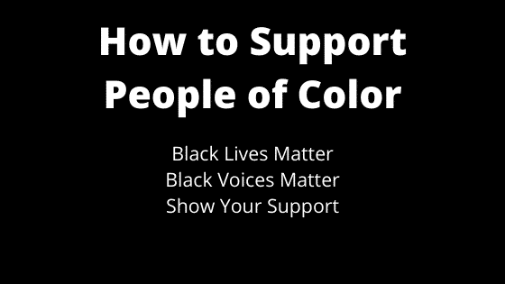 """""""support people of color"""""""