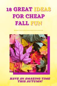 ideas for cheap fall fun