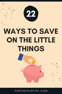 save money on the little things