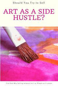 Selling art as a side hustle