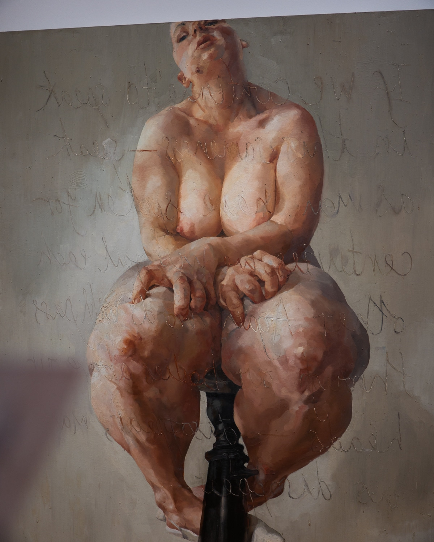 famous painter jenny saville propped
