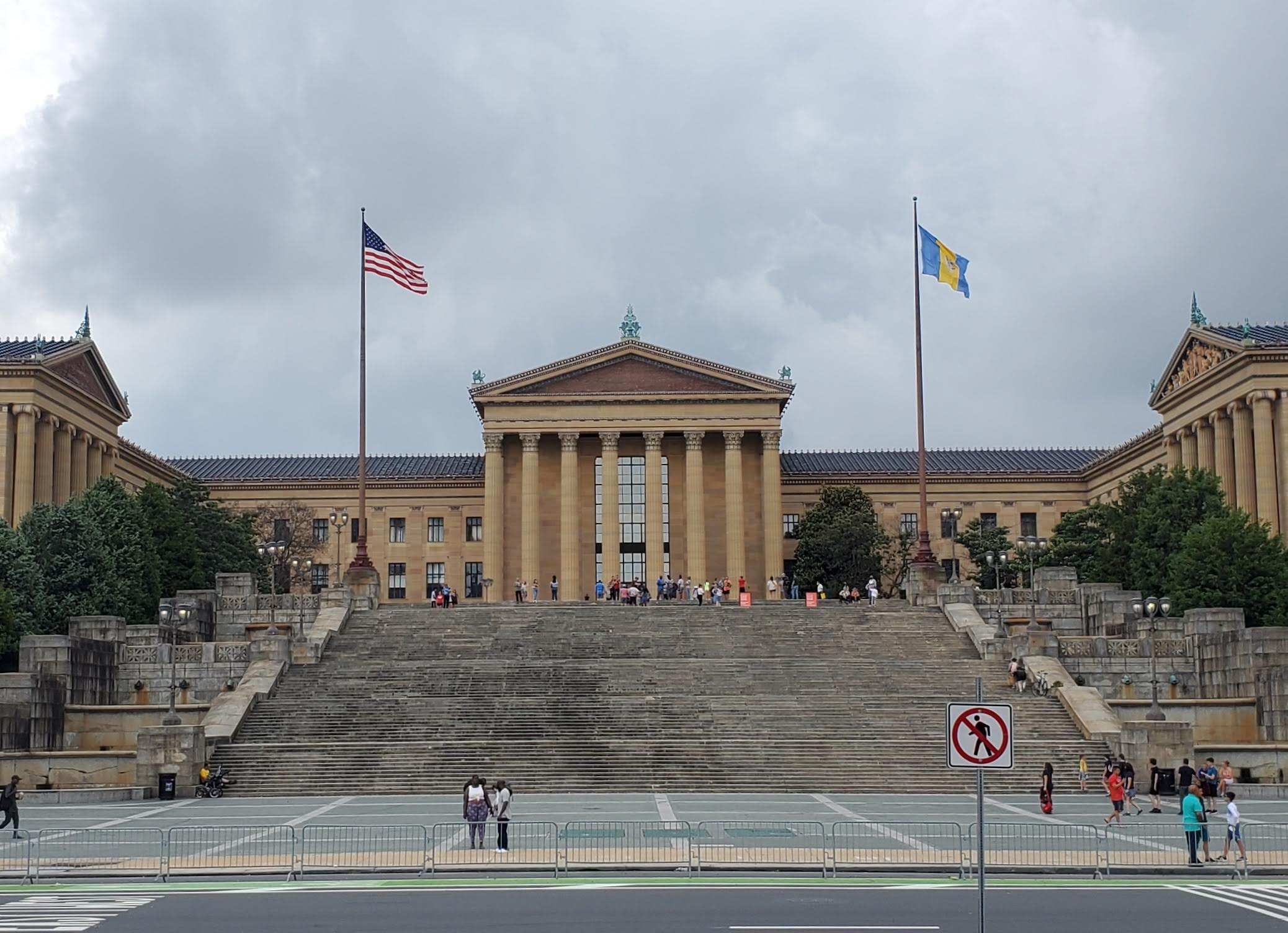 things to do in Pennsylvania - the stairs outside the Philadelphia Art Museum
